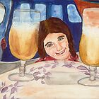 Child With Drinks by Carolyn Leete