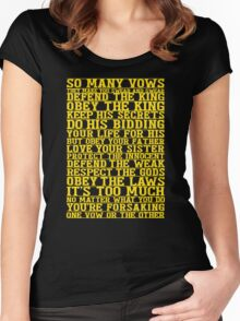 So Many Vows Women's Fitted Scoop T-Shirt