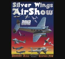 Silver Wings Airshow-1 T-shirt Design by muz2142