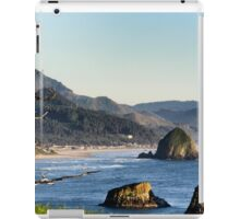 Hay stack rock beach iPad Case/Skin