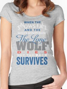 The Lone Wolf Women's Fitted Scoop T-Shirt