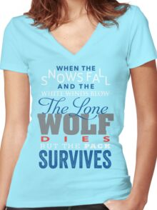 The Lone Wolf Women's Fitted V-Neck T-Shirt