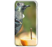 Tui on the orange, the highlight of their day.......! iPhone Case/Skin