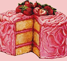 Strawberry Cake by Kelly  Gilleran