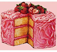 Strawberry Cake Photographic Print
