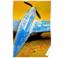 Blue plane Poster