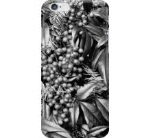 B/W Leaves and Berries  iPhone Case/Skin
