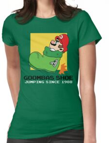 Super Mario - Goomba's Shoe Womens Fitted T-Shirt