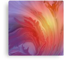 Life Is A Flower- Abstract  Art + Products Design  Canvas Print