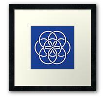 Earth Flag  Framed Print