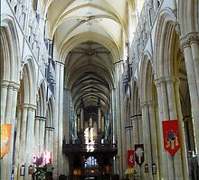 Beverley Minster - Aisle to the Altar by Bev Pascoe