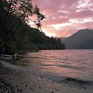 Crescent Lake Sunset by Beth Mason
