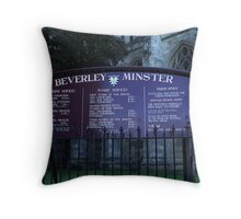 Beverley Minster, Yorkshire, England Throw Pillow