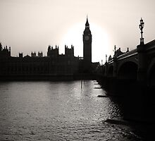 Big Ben, quarter to seven by wilfried09