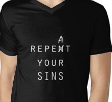 repeat your sins Mens V-Neck T-Shirt