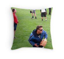 Stretching Ham Throw Pillow