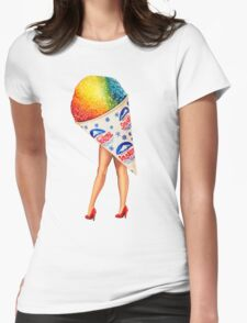 My Fair Ladies- Snow Cone Womens Fitted T-Shirt