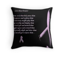 Love Those Breasts Throw Pillow