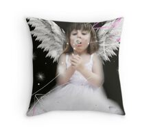 Blowing away the dandilion Throw Pillow