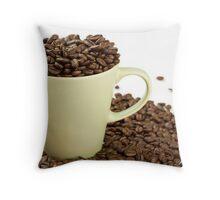 My Coffee Cup Overfloweth Throw Pillow