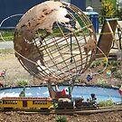 Model Globe, Model Trains, Replica of 1964/1965 New York World's Fair, Queens Botanical Garden, Flushing, New York by lenspiro