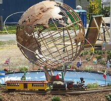 Model Globe, Model Trains, Replica of 1964/1965 New York World's Fair, Queens Botanical Garden, Flushing, New York by lenspiro