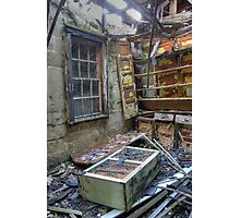 Abandoned and falling apart training school Photographic Print