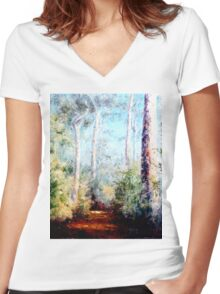 Bush Trail at the noon... Women's Fitted V-Neck T-Shirt