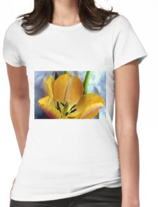 Open Wide Womens Fitted T-Shirt