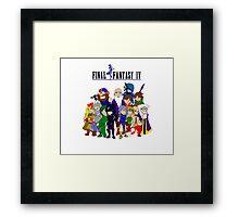 Final Fantasy 4 Characters Framed Print