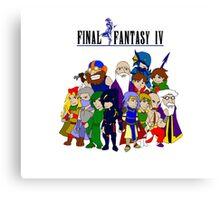 Final Fantasy 4 Characters Canvas Print
