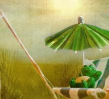 Mr Frog's Holiday! Sticker