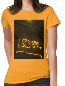 Flaming Love Womens Fitted T-Shirt
