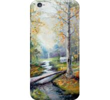 Leaving the Woodland Creek iPhone Case/Skin