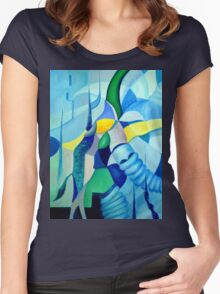 THE CHASE  1.0 Women's Fitted Scoop T-Shirt