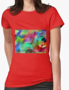 Rainbow Fantasy Landscape Womens Fitted T-Shirt