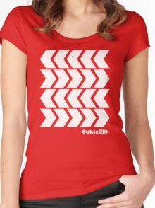 Inkling's Arrowed Red Shirt - Splatoon Women's Fitted Scoop T-Shirt