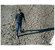 Farmer enduring drought, far west NSW Poster