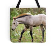 Young and Playful in the meadows of Springtime.... Tote Bag