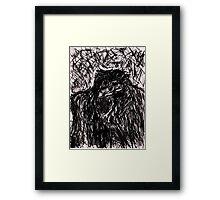 Mad Gorilla Framed Print