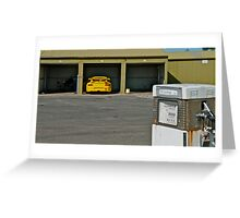 GT3 Cup car in the garage Greeting Card