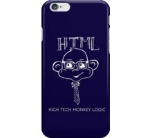 HTML High Tech Monkey Logic funny acronym White iPhone Case/Skin