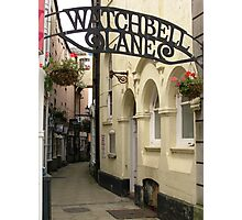 Watchbell Lane Photographic Print