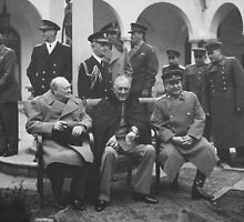 The Big Three During The Yalta Conference by warishellstore
