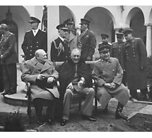 The Big Three During The Yalta Conference Photographic Print