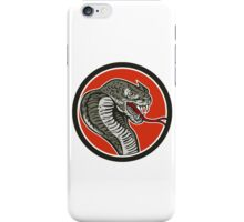 Cobra Viper Snake Circle Retro iPhone Case/Skin