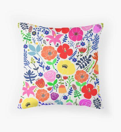 Secret Flower Garden Throw Pillow