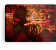 Quit playing with your food darlings.... Metal Print