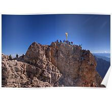 Zugspitze - crowded summit Poster