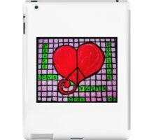 Peace in your Heart Crossword 2015 iPad Case/Skin